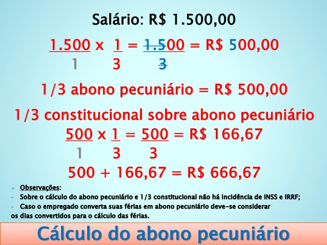 Cálculo do Abono Pecuniário