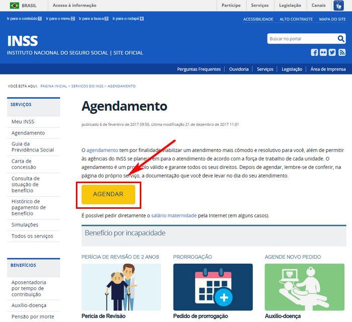 Agendamento Perícia INSS Online